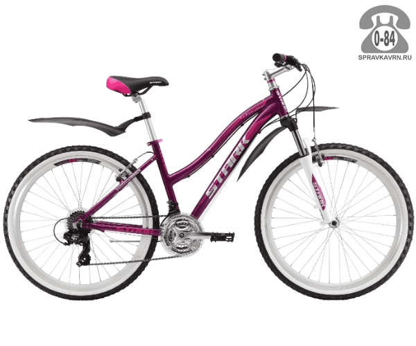 """Велосипед Старк (Stark) Luna 26.2 V (2017), рама 16.5"""" размер рамы 16.5"""" красный"""