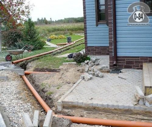 Наружная канализация дома своими руками