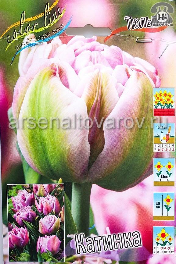 Посадочный материал цветов тюльпан Катинка многолетник махровая луковица 10 шт. Нидерланды (Голландия)