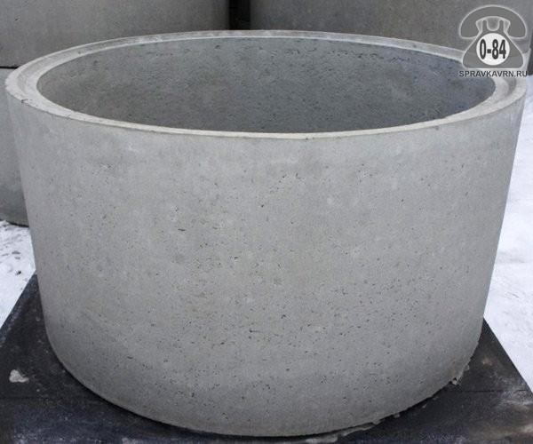 Кольцо колодца КО-6 высота 0.7м, диаметр 0.58м, толщина стенки 0.13м