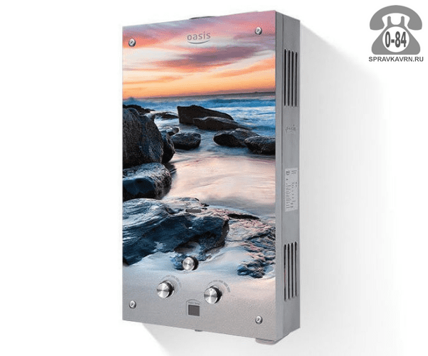 Газовая колонка Оазис (Oasis) Glass MG20 20 кВт 10л/мин открытая камера
