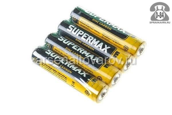 Батарейка Супермакс (Supermax) солевая ААА (LR03, R03) 1.5 В 4 шт. Китай