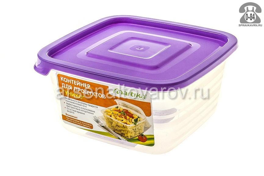 контейнер для СВЧ пластмассовый 0,45 л Унико (С208) прозрачный (Мартика)