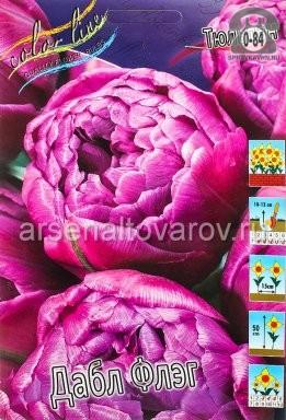 Посадочный материал цветов тюльпан Дабл Флэг многолетник махровая луковица 10 шт. Нидерланды (Голландия)