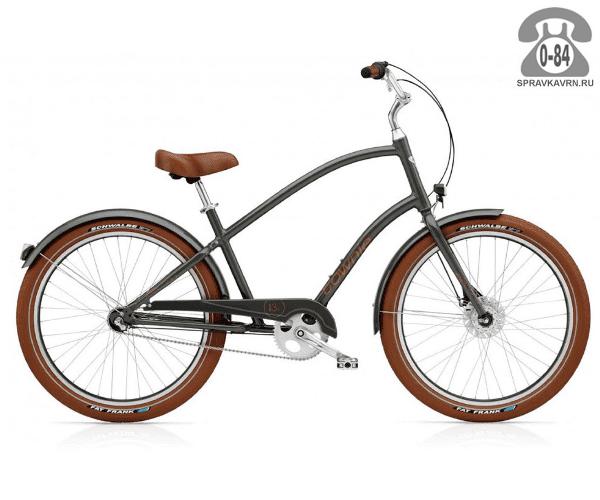 Велосипед Электра (Electra) Townie Balloon 3i EQ Men's (2016) серый