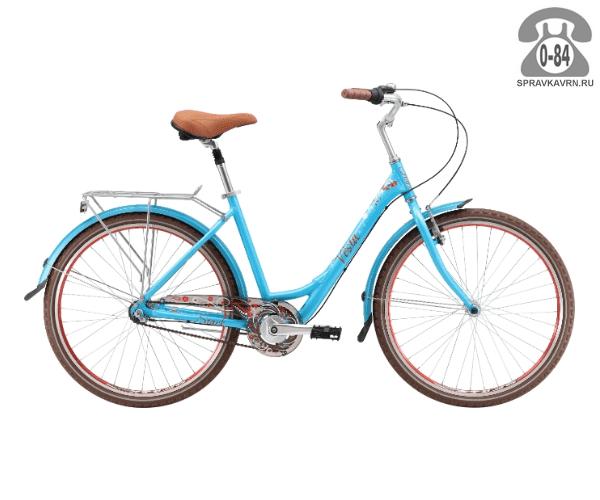 "Велосипед Старк (Stark) Vesta 26.4 V (2017), рама 16.5"" размер рамы 16.5"" синий"