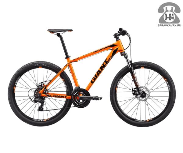 "Велосипед Джайнт (Giant) ATX 2 (2017), рама 22.5"", оранжевый размер рамы 22.5"" оранжевый"