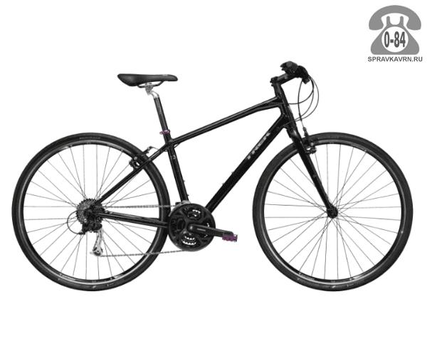 """Велосипед Трек (Trek) 7.3 FX WSD (2016), рама 15.5"""" размер рамы 15.5"""" черный"""