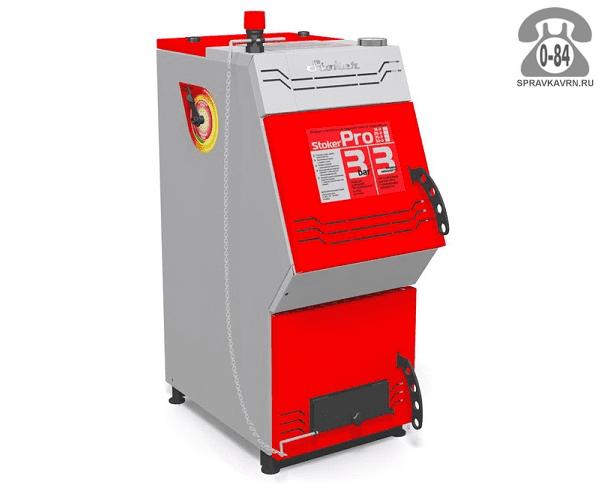 Отопительная печь Ермак Stoker Pro 20-Э 200м3 22кВт, 425x880мм