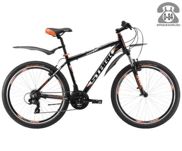 """Велосипед Старк (Stark) Indy 26.2 V (2017), рама 16.5"""" размер рамы 16.5"""" черный"""