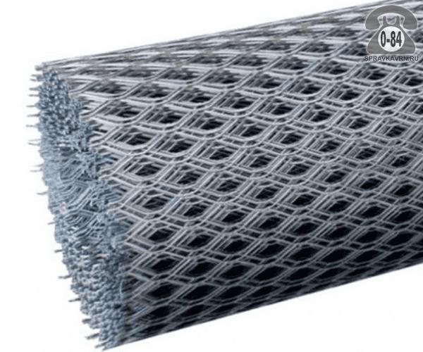 Сетка строительная просечно-вытяжная (ЦПВС) 50 мм 20 мм 1.25 м 10 м 0.5 мм