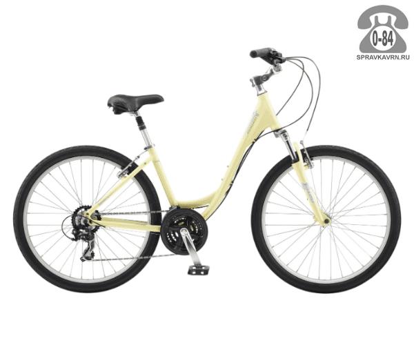 "Велосипед Швин (Schwinn) SIERRA women (2017) размер рамы 16.5"" желтый"