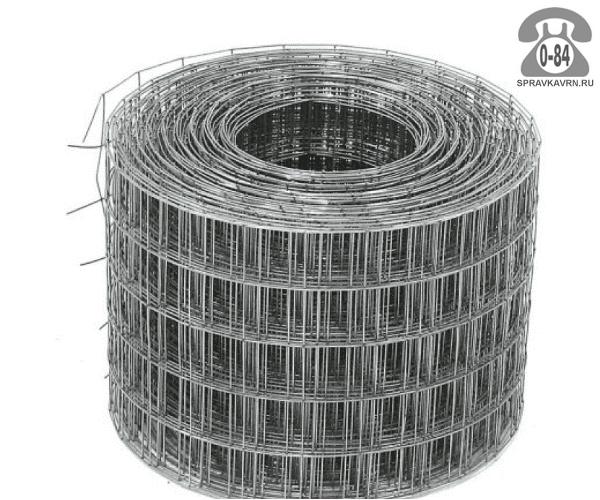 Строительная сетка диаметр 1.6мм  ячейка 25x25мм ширина 0.5м