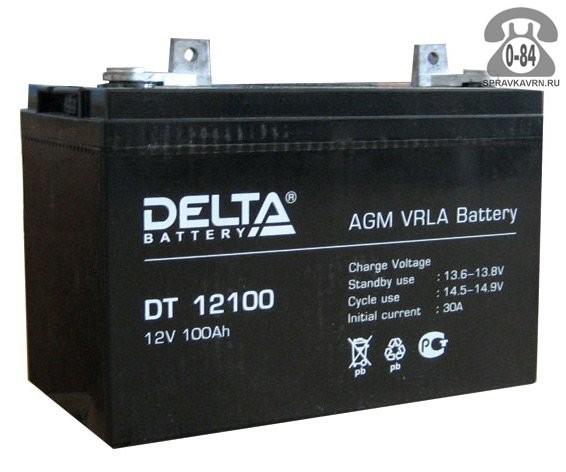 Аккумулятор для источника бесперебойного питания Дельта (Delta) DT 12100 AGM