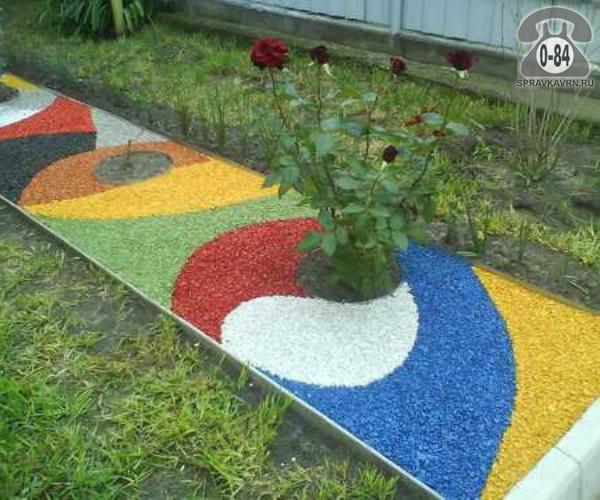 Щебень СтройБаза (Склад тротуарной плитки) гранитный 5 мм 20 мм голубой 15 кг мешок декоративный