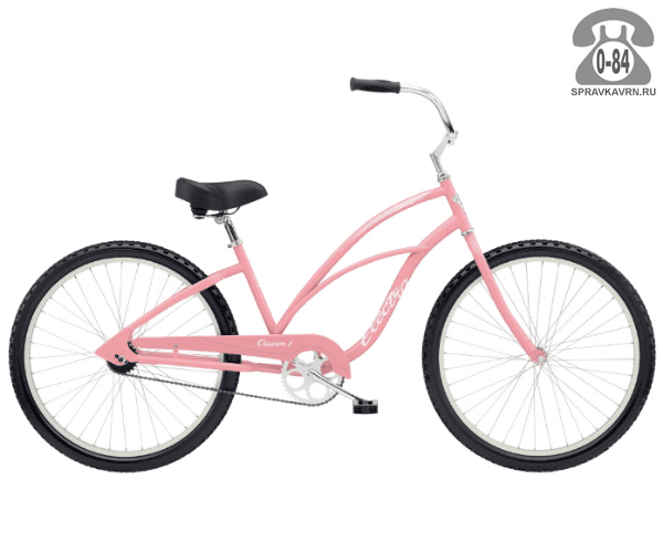 """Велосипед Электра (Electra) Cruiser 1 Ladies (2016) размер рамы 18"""" розовый"""