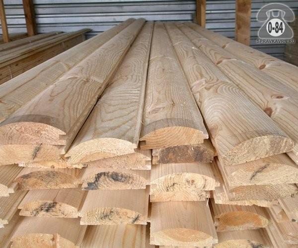 Вагонка деревянная блок-хаус (блокхаус, имитация бревна, BlockHouse) сосна