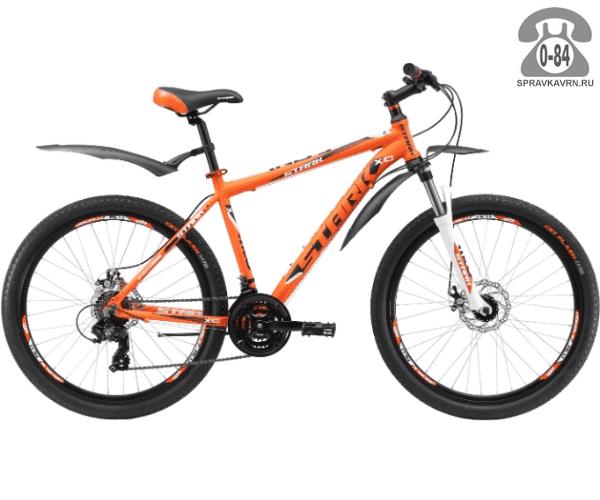 """Велосипед Старк (Stark) Indy 26.2 D (2017), рама 18.5"""" размер рамы 18.5"""" оранжевый"""
