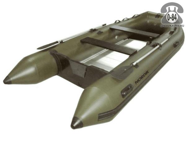 Лодка надувная Нордик (Nordik) Gigant 400GT, зеленая