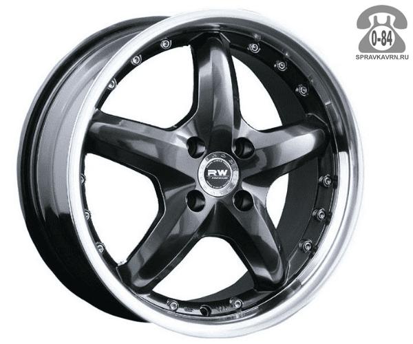 """Диск РВ (Racing Wheels) H-125 13"""" ширина 5.5"""" крепежных отверстий 4 диаметр расположения отверстий 98 мм вылет колеса (ET) 35 мм диаметр центрального отверстия 58.6 мм"""