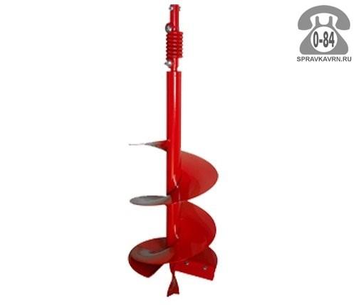 Бур почвенный 120 см шнековый 160 мм красный Россия