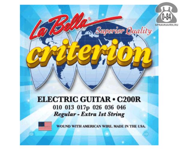 Струны для электрогитары Ла Белла (La Bella) C200R