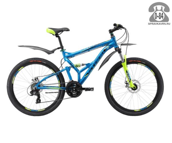 "Велосипед Старк (Stark) Jumper 26.2 FS D (2017), рама 18.5"", синий размер рамы 18.5"" синий"