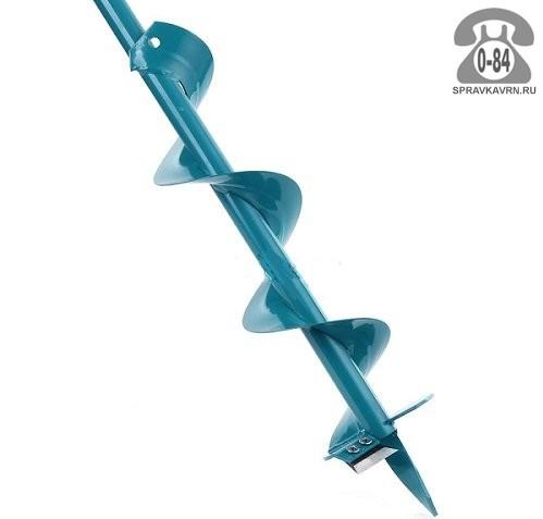Бур почвенный 120 см шнековый 250 мм синий Россия