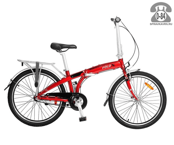 Велосипед Фолдикс Twist (2017) дорожный взрослый красный