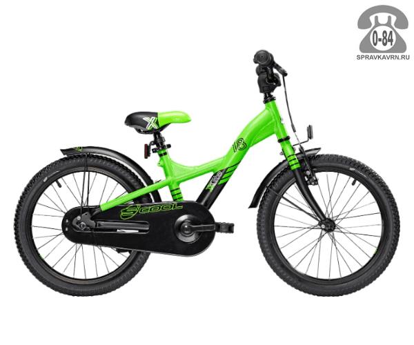 Велосипед Скул (Scool) XXlite 18 alloy (2017), зеленый