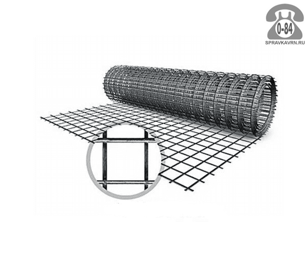 Строительная сетка диаметр 1.6мм ширина 1м ячейка 50x50мм