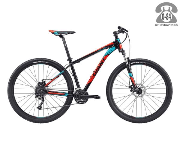 """Велосипед Джайнт (Giant) Revel 29er 2 (2017), рама 22.5"""" размер рамы 22.5"""" черный"""