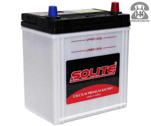 Аккумулятор для транспортного средства Солайт (Solite) 6СТ-44 прямая полярность 187*127*225 мм