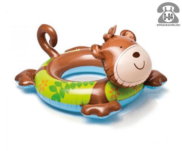 Круг надувной для плавания Интекс (Intex) Любимые животные. Обезьяна, 59220