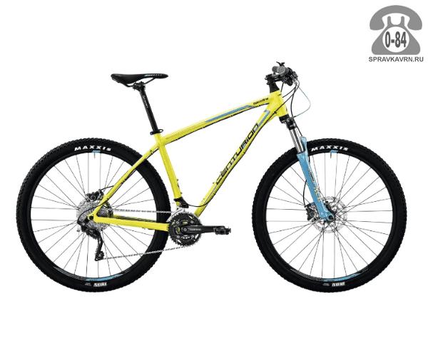 """Велосипед Центурион (Centurion) Backfire Pro 400.29 (2017) размер рамы 21.5"""" желтый"""