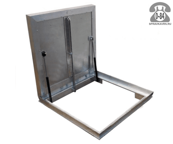 Люк ревизионный Колизей Лифт стандарт REVIZOR с амортизаторами напольный ну800800