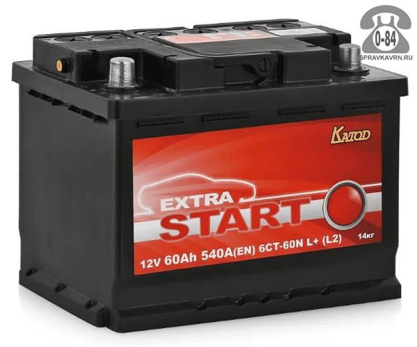 Аккумулятор для транспортного средства Старт Лайт (Start Light) 6СТ-60 обратная полярность 242*175*190 мм