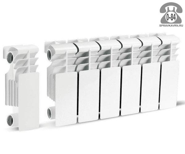 Радиатор отопления алюминиевый Вулкано (Vulcano) 200/100 80x275 мм