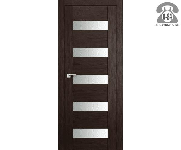 Межкомнатная деревянная дверь ЭльПорта, фабрика (el PORTA) Порта-23 Magic Fog остеклённая 60 см Венге Вералинга (Wenge Veralinga)