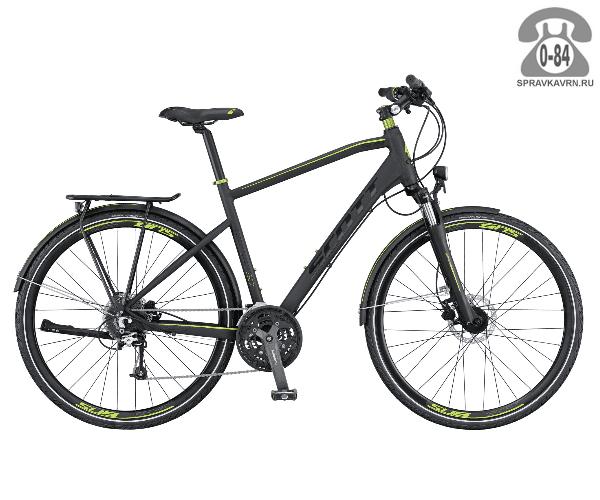 """Велосипед Скотт (Scott) SUB Sport 10 Men (2016), рама 18.5"""" размер рамы 18.5"""" черный"""