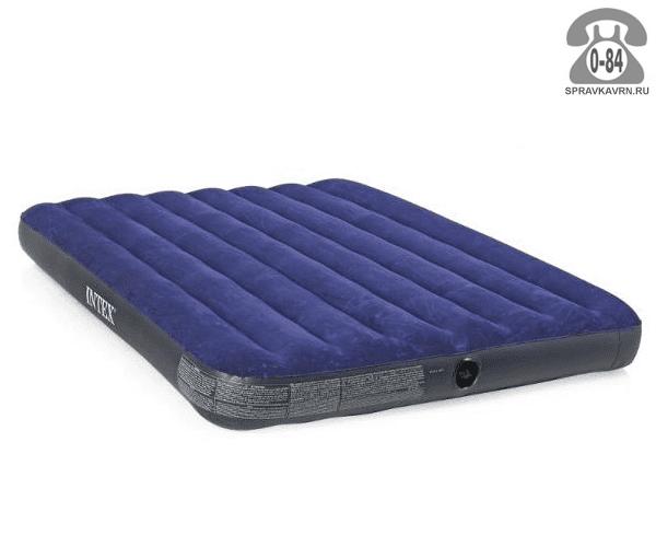 Кровать надувная Интекс (Intex) CLASSIC DOWNY 68758, 191х137х22см