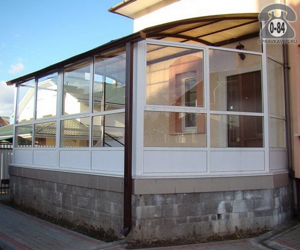 Закрытая терраса для дачи