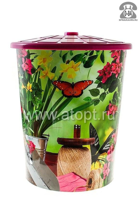 бак с крышкой пластмассовый 100 л для пищевых Любимый сад (М3386) (Башкирия)