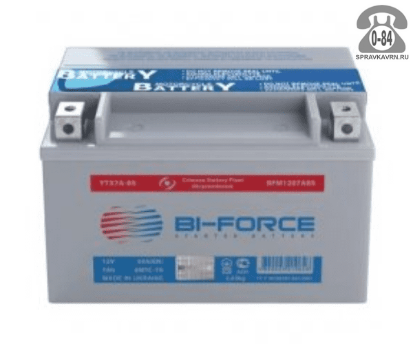АКБ автомобильная Bi-Force BFM 14 А*час