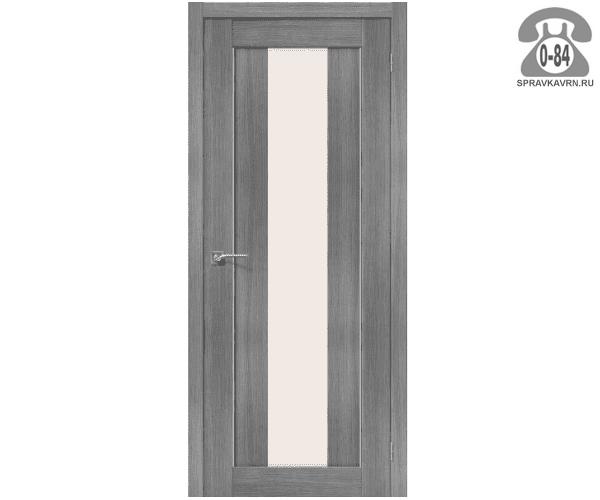 Межкомнатная деревянная дверь ЭльПорта, фабрика (el PORTA) Порта-25 alu Magic Fog остеклённая 80 см Грей Вералинга (Grey Veralingа)