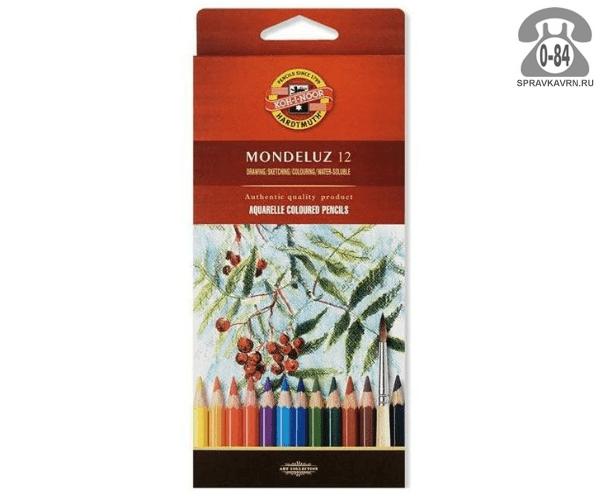 Цветные карандаши Mondeluz цветов 12 картонная коробка