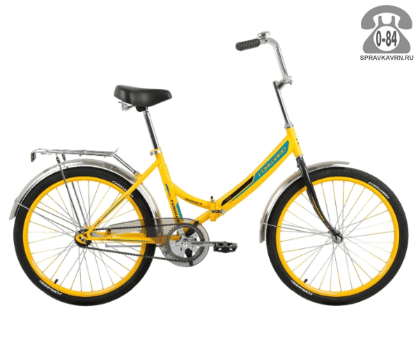"Велосипед Форвард (Forward) Valencia 1.0 (2017) размер рамы 16"" желтый"