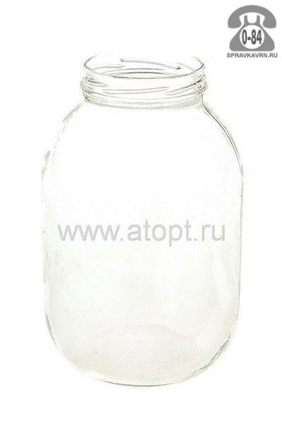 Банка стеклянная Твист-100 стандартная 3 л