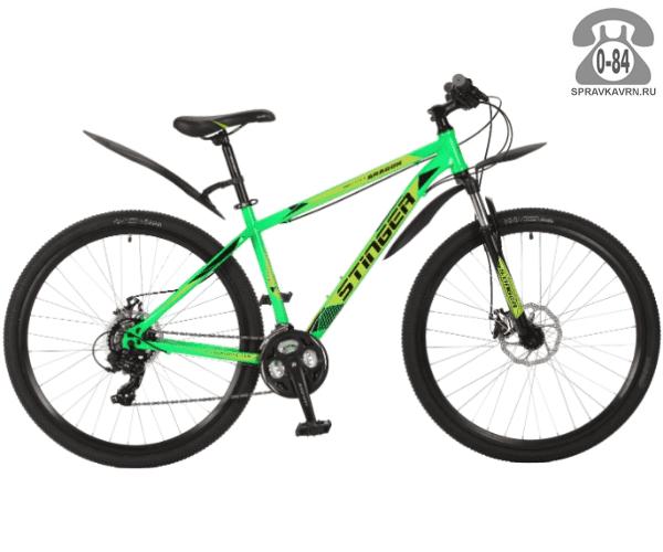 "Велосипед Стингер (Stinger) Aragon 29"" (2017), рама 16.5"" размер рамы 16.5"" зеленый"