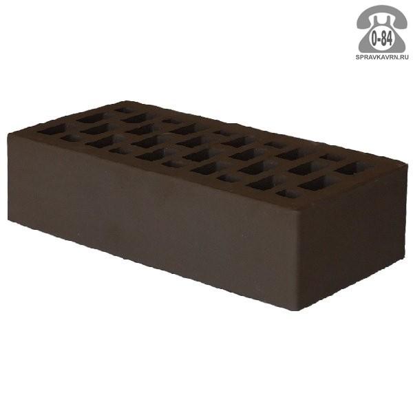 Кирпич облицовочный керамический Рязанский кирпичный завод М150 одинарный 1НФ 250 мм 120 мм 65 мм коричневый гладкая F100 пустотелый г. Рязань